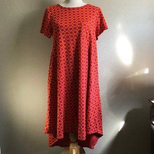 LulaRoe Magenta and Orange Patterned Dress
